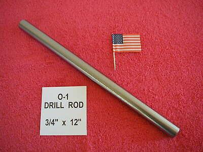 34 X 12 Drill Rod 0-1 Tool Steel Precision Ground .750 Machinist