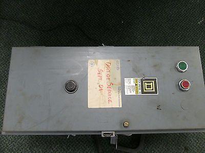 Square D Enclosed Starter Wcurrent Transformer 8536sfg1v02s Size 4 120v Coil