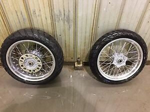 SET OF SUPERMOTO TIRES AND RIMS KTM