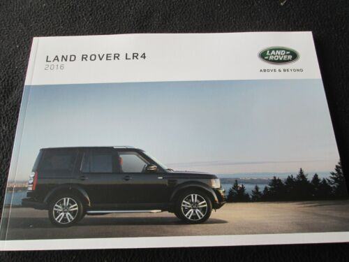 2016 Land Rover LR4 Sales Catalog 3.0L LR 4 HSE Landmark Large 66-pg US Brochure