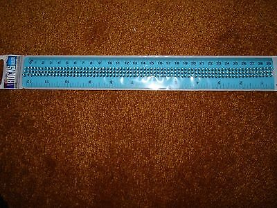 Inkology Glam Rocks Ruler With Bling Light Blue