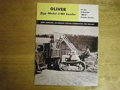 Oc3 Oliver Tractor Manual Sales Brochure For Track Loader Oc 3 Cletrac