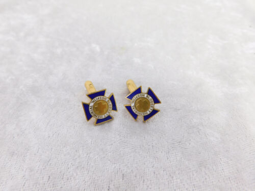 Michigan Blodgett Memorial Hospital  enamel Cufflinks Nurse employee award pin