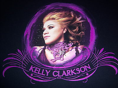KELLY CLARKSON--licensed 2005 TOUR t shirt--BREAKAWAY lyrics--LOOKS UNUSED--(S)