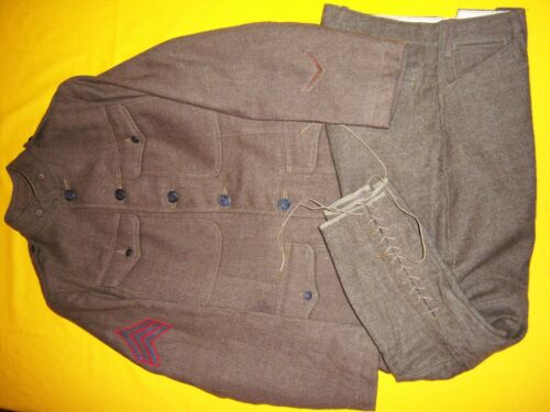 RARE 1918 DATED USMC SGTs ARMY ISSUE JACKET & TROUSERS SET, NMINT ISSUED