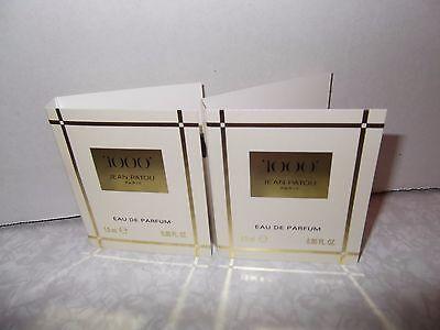 Womens Jean Patou 1000 Eau De Parfum 2 x 1.5ml Splash samples New