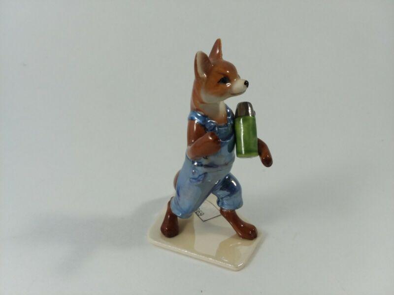"Hagen-Renaker Boy Son Fishing Fox Carrying Thermos 3"""