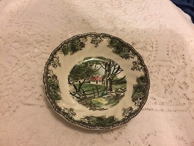 "Vintage Johnson Bros. ""Friendly Village"" Berry Bowl the stone wall"