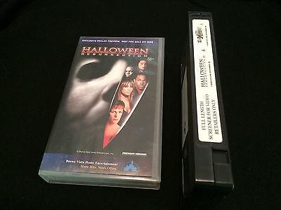 HALLOWEEN RESURRECTION DEALER PREVIEW SCREENER DEMO TAPE AUSTRALIAN VHS VIDEO - Halloween Preview