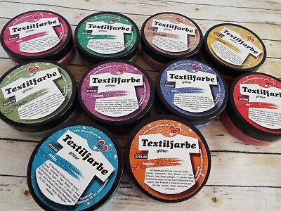 Textilfarbe Glitter Stofffarbe 50 ml Farbwahl