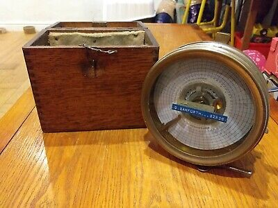 Vintage Toulet Imperator Pigeon Racing Clock In Wood Carry Case No.52529