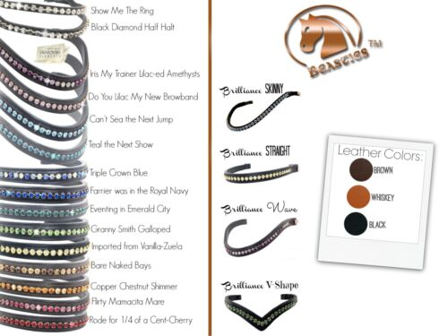 Brilliance Bling Browbands   Beasties™ Horse Tack Solutions