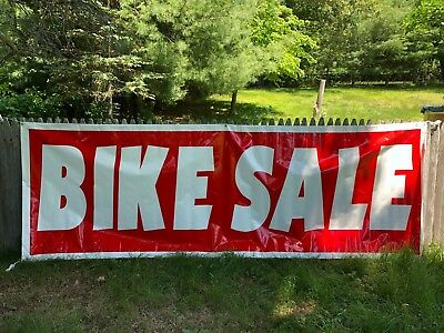 Bike Sale Sign Outdoor Advertising Vinyl Banner Folded Stitched Edges Grommets