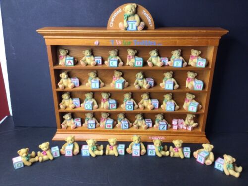 Cherished Teddies Alphabet Letters, Numbers with Display Shelf 1995 - Full Set!