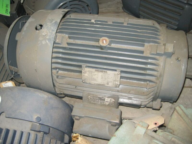 Siemens Industrial Electric Motor 256TC Frame 20 HP 3505 RPM