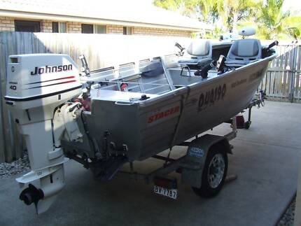 2005 Stacer 420 Seahorse 40HP Johnson - Great Buy Eli Waters Fraser Coast Preview