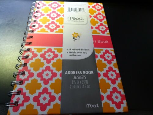 Mead Simplicity Diamond Telephone / Address Book, 8-7/16 in x 5-7/8 in