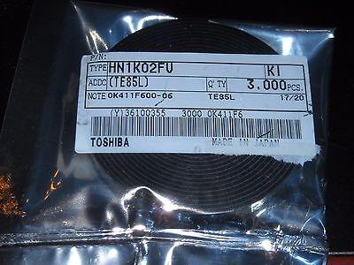100 Pc Smd N-ch Mosfet Transistor 50ma 20v 2 Channel Hn1k02fu Toshiba