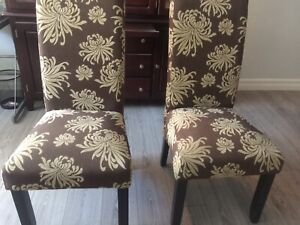 Exclusive 6 floral printed chairs