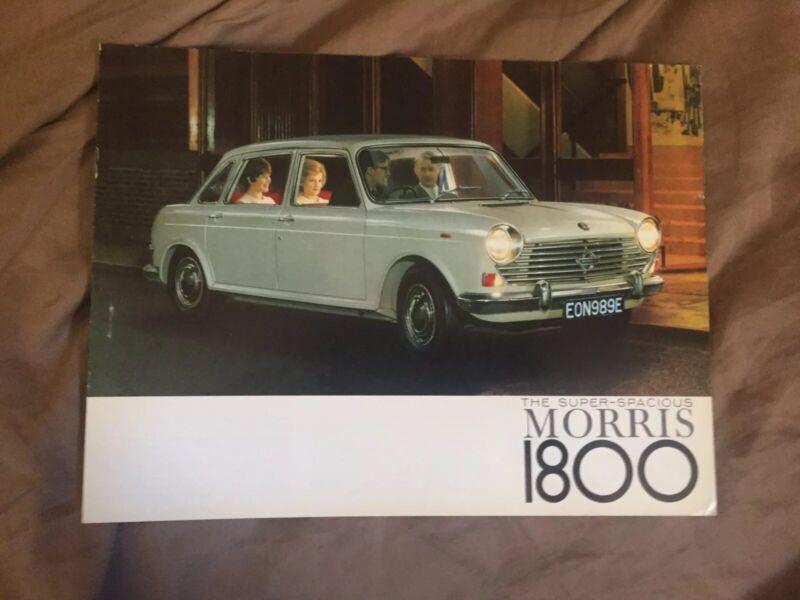 1968 Morris 1800 Sedan Original Color Brochure Prospekt