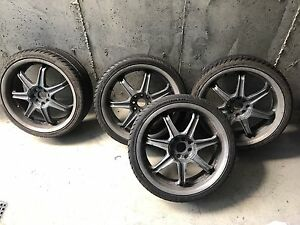 "18"" rims with brand new tires"
