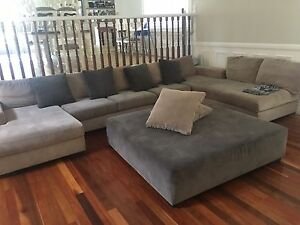 LARGE LOUNGE WITH OTTOMAN Strathfield Strathfield Area Preview