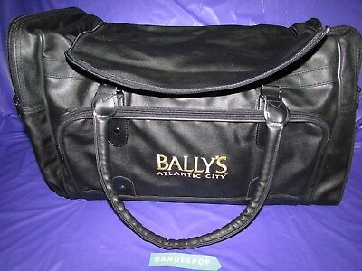 Bally's Atlantic City Embroidered Black Bag Promo Duffel 20 x 12 (Embroidered Duffle Bags)
