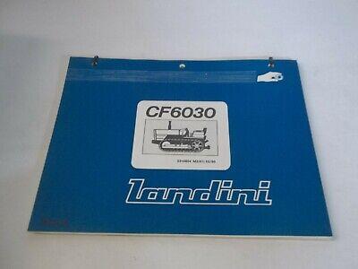 Landini Cf6030 Crawlerdozer Parts Book