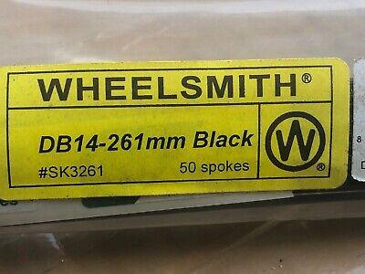 WHEELSMITH Db14 Double Butted 14//15 Gauge Spoke Black Oxide 288 Mm J-Bend 50 Qty