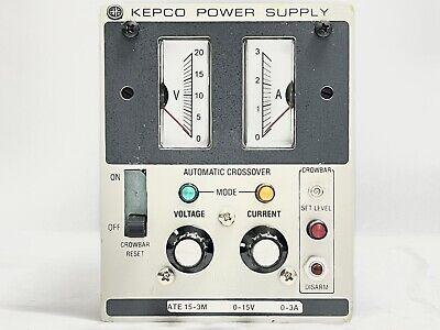Kepco Ate 15-3m 0-20v 0-3a 50w Desktop Quarter Rack Variable Dc Power Supply
