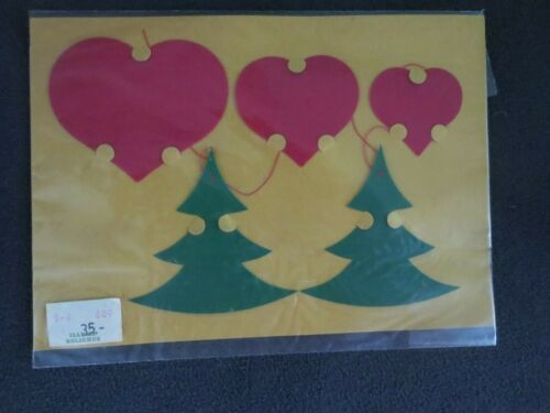 NEW Flensted from Denmark Christmas Tree and Heart Mobile