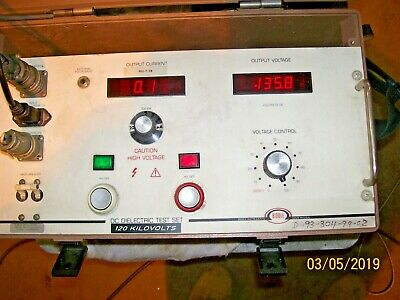 Biddle Hipot 120 Kvdc Avomeggermodel 220120 Complete Test Set