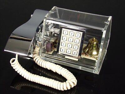 Téléphone TELECONCEPTS plexiglas lucite acrylique 80