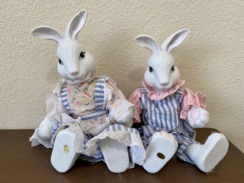 """Vintage Bunny Rabbit Doll 9"""" Set"""