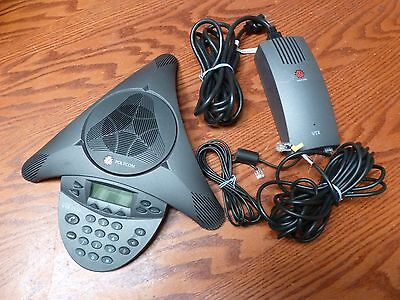Polycom VTX 1000 vtx1000 Conference Phone w/ Power Module 2201-07142