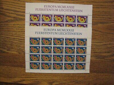 Liechtenstein Europa S/S #528-9 5 sets of 2 each 20v each  MNH OG