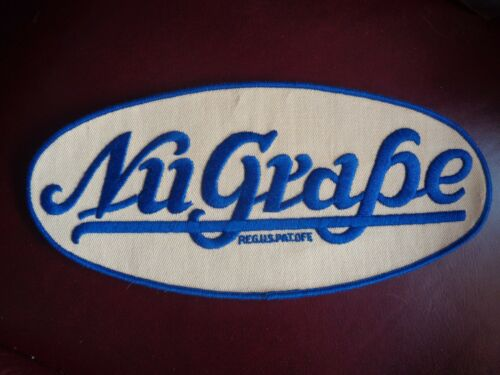 NU GRAPE BEVERAGE UNIFORM PATCH SODA - 10 1/2 x 5 INCH VINTAGE RARE ORIGINAL!
