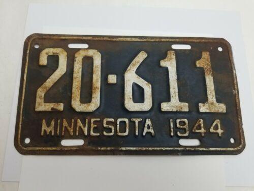 Vintage 1944 Minnesota License Plate