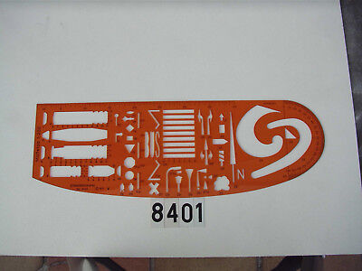 Zeichenschablone Standardgraph Nr. 8401 für Verkehrsunfallskizzen