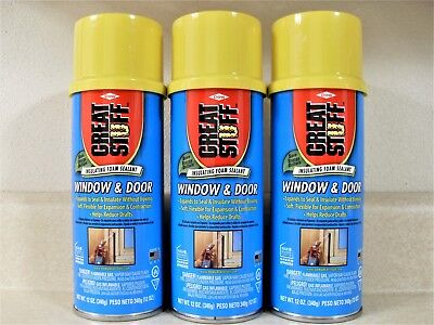 3 Cans Dow Great Stuff Window And Door Expanding Foam Sealant Insulation 12oz