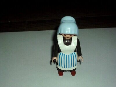 PLAYMOBIL  VICTORIAN FEMALE  MAID FIGURE WITH APRON  V.G.C