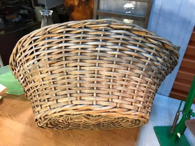 Large Vintage Australian Wicker Laundry Basket Shop Home ...