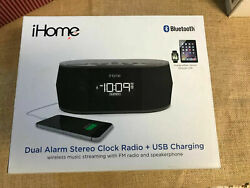 iHome iBT38G Bluetooth Stereo Dual Alarm Clock Radio - Featuring Melody...