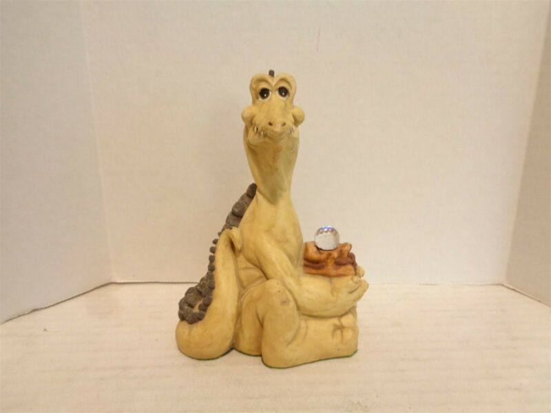 Krystonia Stoope with his Bag 6 Inch Tall Porcelain Dragon Figurine