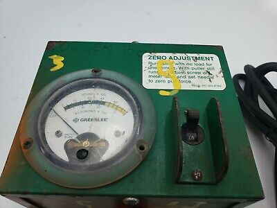 Greenlee 37179 Force Gauge Fully Tested For Use With 6001 Super Tugger