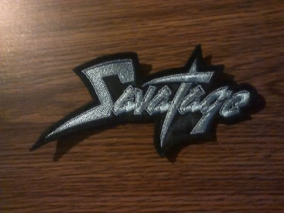 SAVATAGE,SEW ON SILVER EMBROIDERED PATCH