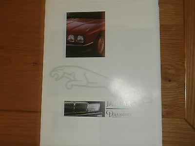 1987 Jaguar/Daimler Fold Out Brochure Pub.No. JAG87/2.   Uncirculated condition