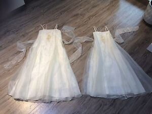 Flower girl matching dresses size 10 &12*BRAND NEW!!60$ each!