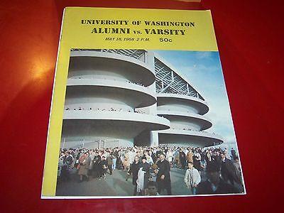 1968 WASHINGTON HUSKIES ALUMNI GAME COLLEGE FOOTBALL PROGRAM UW