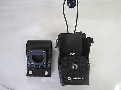 Motorola Pmln4471b Radio Leather Holster Ex600-xls Ex600 Ex500 Pro7150 Elite